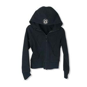 Black Lululemon Fleece Lined Scuba Hoodie Jacket